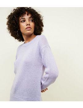 Lilac Dip Hem Jumper by New Look
