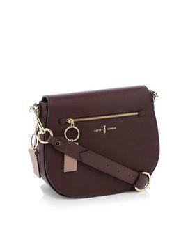 "J By Jasper Conran   Wine Red 'richmond' Front Zip Detail Saddle Bag"" by J By Jasper Conran"