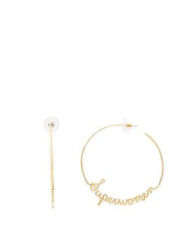 """Superwomen"" Hoop Earrings by Rebecca Minkoff"