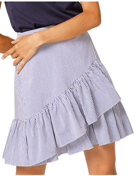 Striped Ruffled Skirt by Esprit