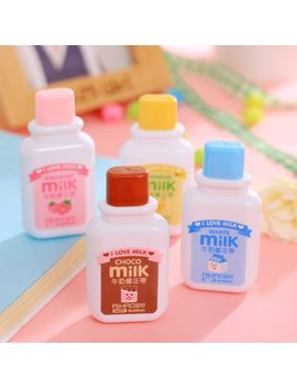 Novelty Milk Bottle Practical Correction Tape Diary Stationery School Supply by Ali Express