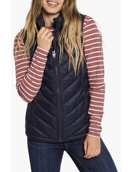 Fat Face Lucy Lightweight Packable Gilet, Navy by Fat Face