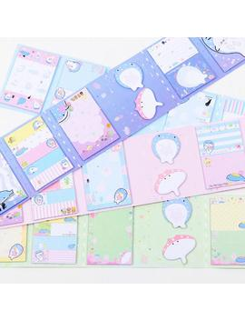 Lovely Happy Whale 6 Folding Memo Pad N Times Sticky Notes Memo Notepad Bookmark Gift Stationery by House Of Novelty