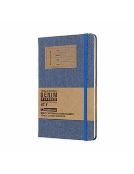 Moleskine 2019 Agenda Settimanale 12 Mesi, Con Spazio Per Note, Large, Copertina Rigida, Blu Cenere by Moleskine