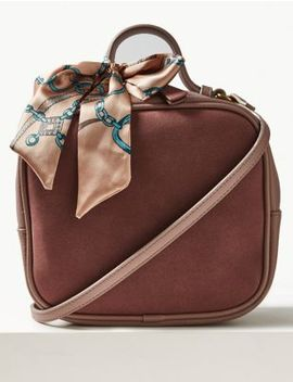 Faux Leather Cross Body Bag With Scarf by Marks & Spencer