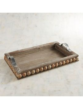 Rustic Wooden Beads Tray by Pier1 Imports