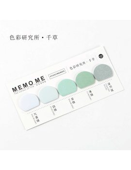 Round Colorful Self Adhesive N Times Memo Pad Sticky Notes Bookmark School Office Supply by House Of Novelty