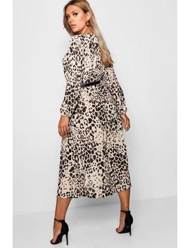Plus Leopard Midi Dress by Boohoo