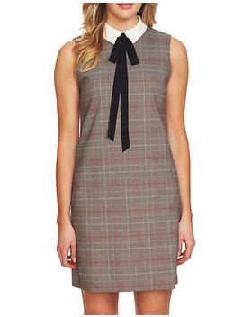 Glen Plaid A Line Dress by Cece
