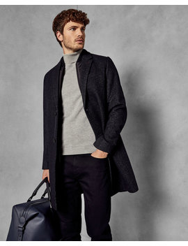 Wool Overcoat With Removable Inner by Ted Baker