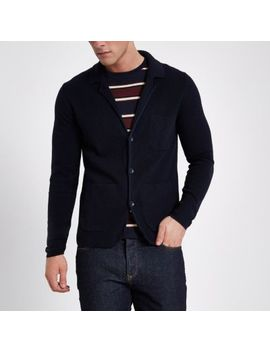 Only & Sons Navy Blazer Knit Cardigan by River Island
