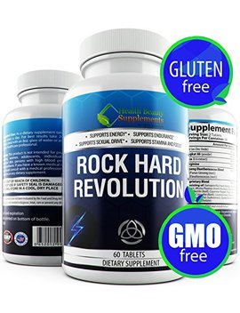 Rock Hard Revolution Male Libido Booster,Male Enhancing Pills Increase Size,Male Enchantment,Testo Booster,Male Performance Enhancement Pills,... by Hb&S Solutions