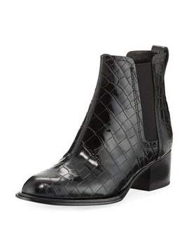 Walker Ii Crocodile Embossed Chelsea Boots by Rag & Bone