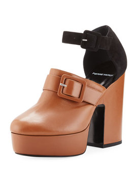 Crash Leather & Suede Platform Clog by Pierre Hardy