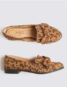 Kids' Leopard Loafers (13 Small   6 Large) by Marks & Spencer