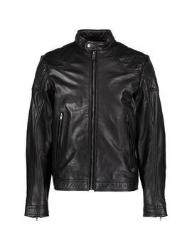 Black Leather Biker Jacket by Diesel