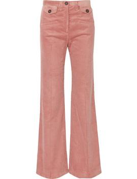 Cotton Blend Corduroy Bootcut Pants by Alexachung