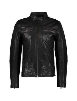 Black Leather Jacket by Superdry
