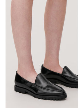 Ridged Sole Leather Loafers by Cos