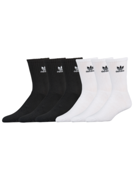 Adidas Originals Trefoil 6 Pack Crew Socks by Nike