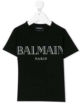 Balmain Kidslogo Print T Shirthome Kids Balmain Kids Boys Clothing Girls T Shirts by Balmain Kids
