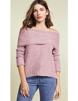 Off Shoulder Pullover Sweater by Vince