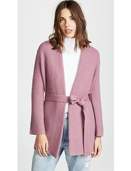 Chunky Cashmere Robe Cardigan With Belt by Tse Cashmere