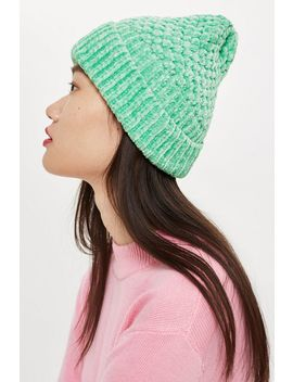 Chenille Beanie Hat by Topshop