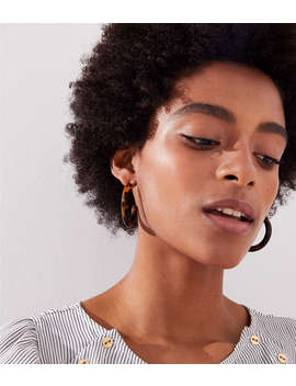 Tortoiseshell Print Hoop Earrings by Loft