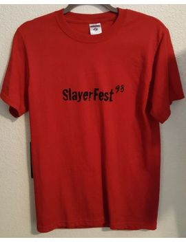 Buffy The Vampire Slayer Slayer Fest 98 Red Top Tshirt Shirt Clothing Vintage by Ebay Seller