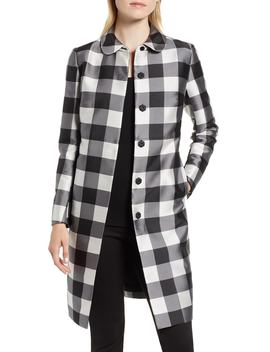 Large Check Coat by Anne Klein