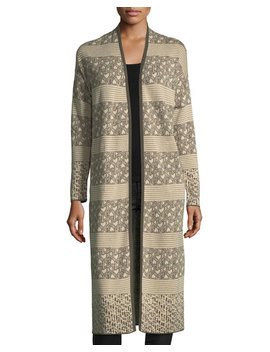 Geometric Knit Duster Cardigan by Neiman Marcus