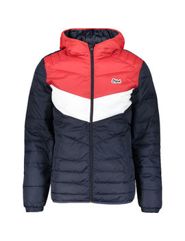 Red & Navy Padded Jacket by Jack & Jones