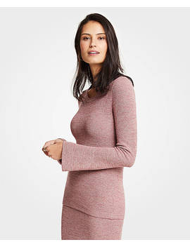 Melange Flare Sleeve Sweater by Ann Taylor