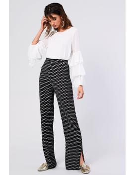 **Spotted Plisse Trousers By Glamorous Tall by Topshop