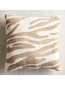 Faux Fur Snow Zebra Pillow by Pier1 Imports