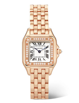 Panthère De Cartier 22mm Small 18 Karat Pink Gold Diamond Watch by Cartier