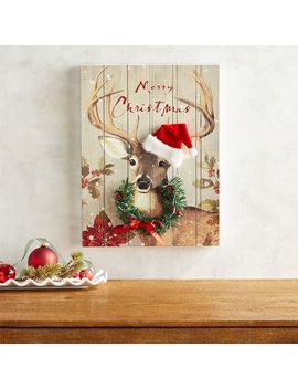 Deer Christmas Art by Pier1 Imports