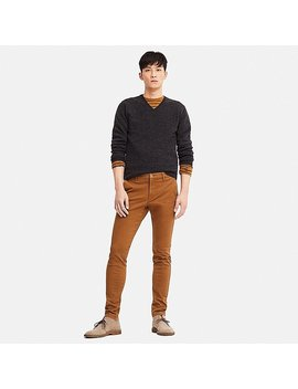 Men Ultra Stretch Skinny Fit Chino Trousers (L34) by Uniqlo