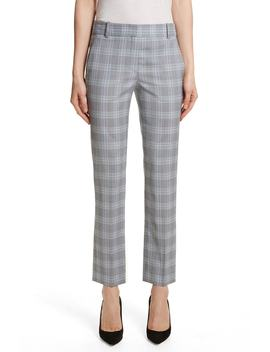 Maple Check 2 Straight Crop Trousers by Theory