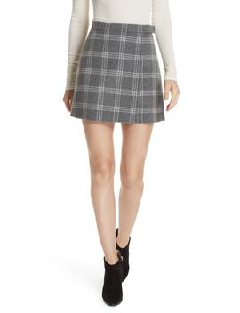 Westport Plaid Wool & Cashmere Miniskirt by Theory