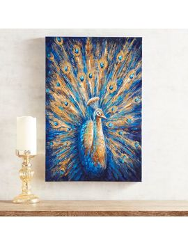 Indigo Peacock Wall Art by Pier1 Imports