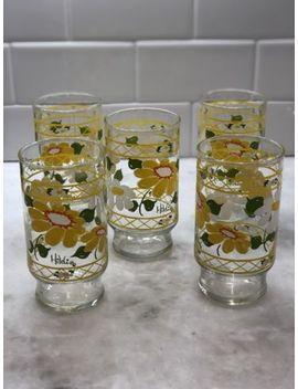 Vintage Hildi Anchor Hocking Yellow Glasses  5 by Ebay Seller