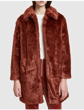 Faux Fur Coat In Spice by Frame