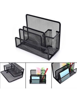 Black Mesh Letter Paper File Storage Rack Holder Tray Organiser Desktop Offi Jt by Ebay Seller