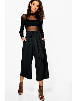 Jupe Culotte Jambes Larges Plissée à Taille by Boohoo