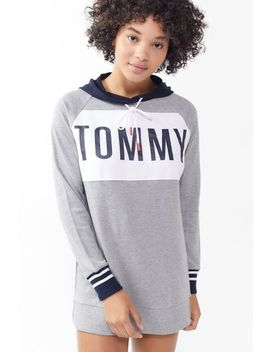 Tommy Hilfiger Colorblock Tunic Hoodie Sweatshirt by Tommy Hilfiger
