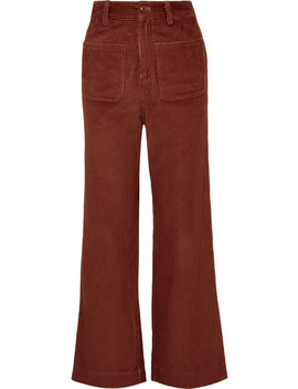 Fonda Cotton Corduroy Straight Leg Pants by Ulla Johnson