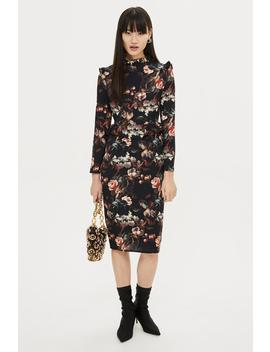 **Printed High Neck Floral Dress By Hope & Ivy by Topshop