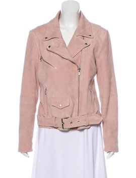 Suede Leather Moto Jacket by Veda